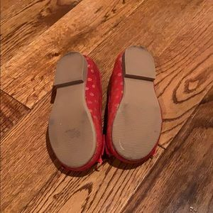 GAP Shoes - Red on red polka dot slip on's. Gap-size 6